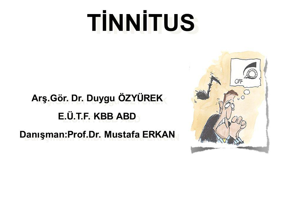 Objektif Tinnitus Nedenleri 2- Patent östaki tübü 3- Palatal miyoklonus 4- İdiopatik stapedial ve tensor timpani kas spazmı 5-Temporomandibuler eklem disfonksiyonu