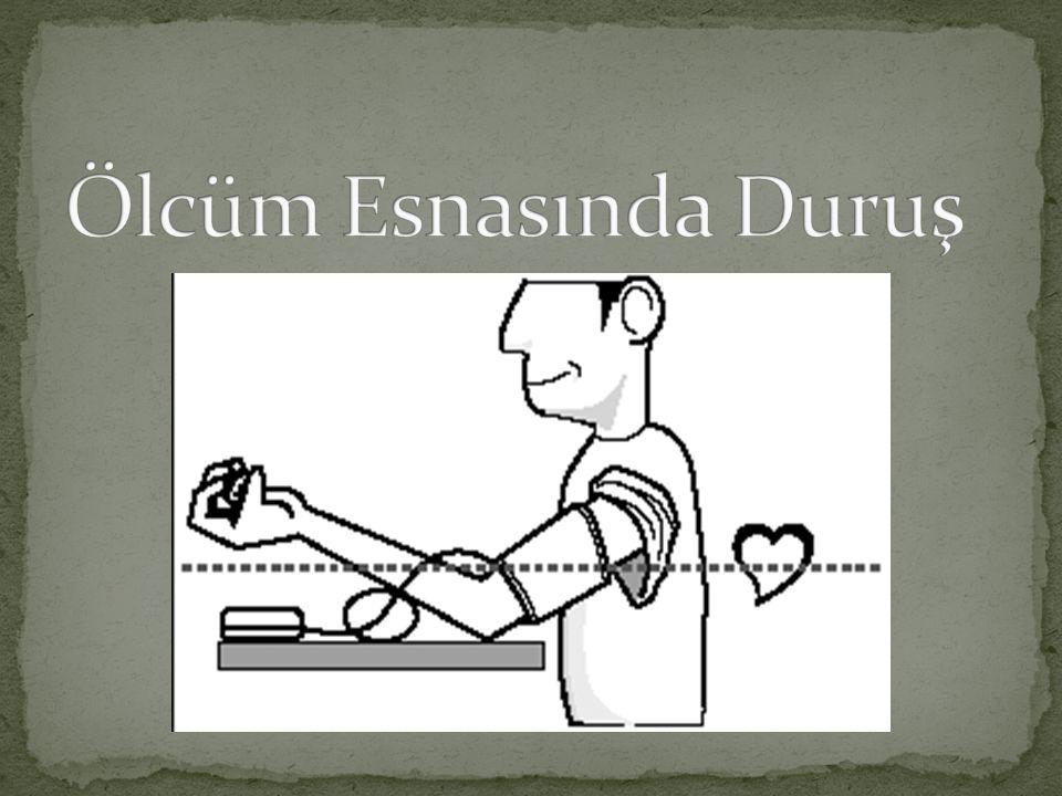 3-Sol kolunuzdan olcmek mumkun değilse, kolluğu resimde gosterildiği gibi sağ kolunuza takınız.