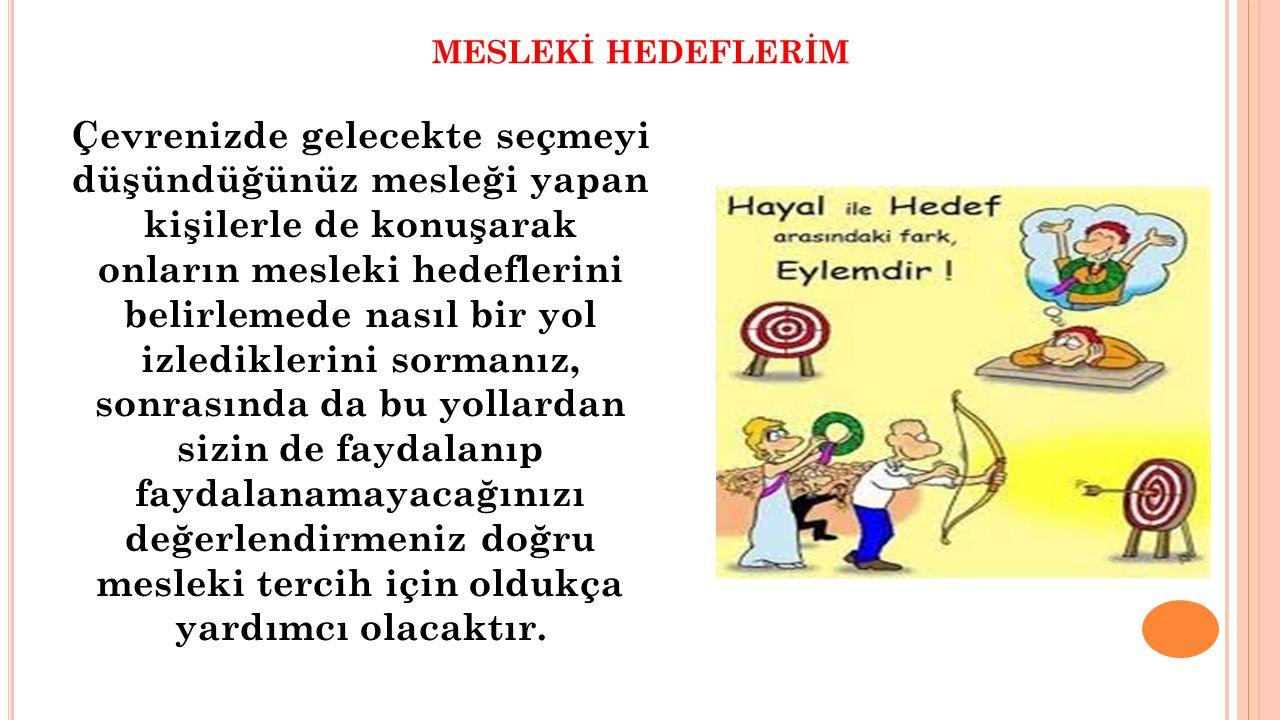 MESLEKİ HEDEFLERİM UNUTMAYALIM!!!!.