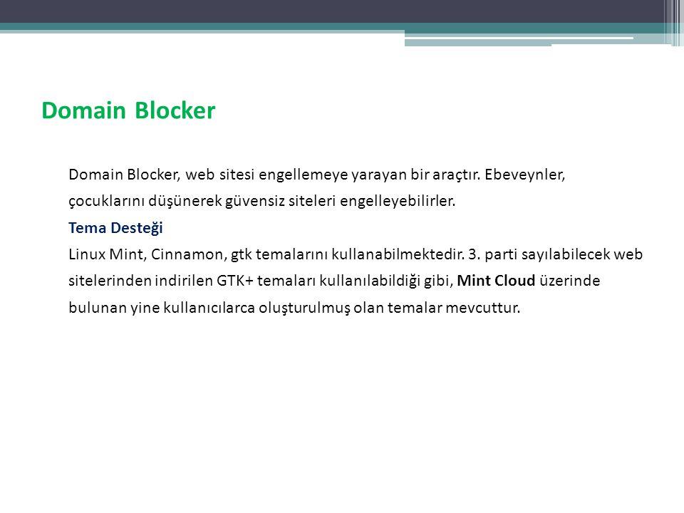 Domain Blocker Domain Blocker, web sitesi engellemeye yarayan bir araçtır. Ebeveynler, çocuklarını düşünerek güvensiz siteleri engelleyebilirler. Tema