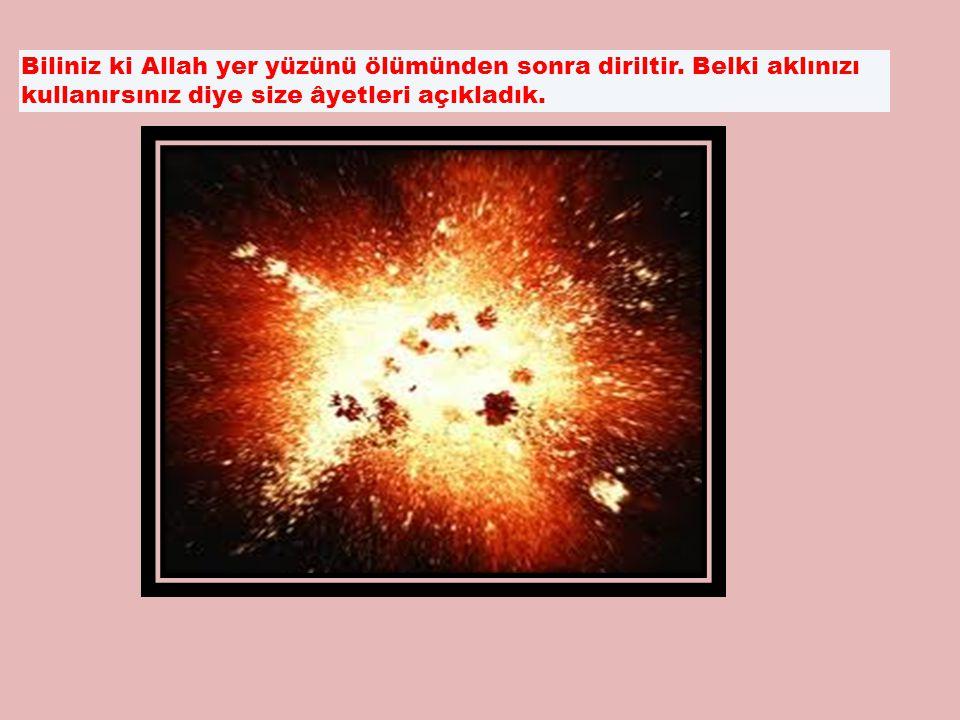 Biliniz ki Allah yer yüzünü ölümünden sonra diriltir.