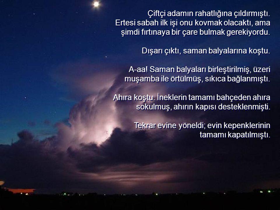 Ta ki o fırtınaya kadar... Gece yarısı, fırtınanın o müthiş uğultusuyla uyandı.