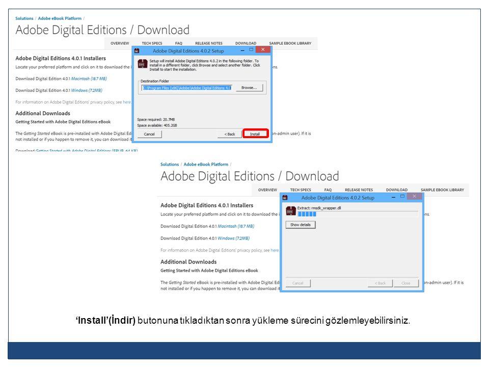 Adobe hesap bilgilerinizi giriniz ve 'Authorize'(Yetkilendir) butonuna tıklayınız.