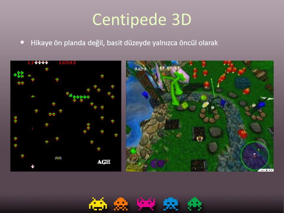Centipede 3D Hikaye ön planda değil, basit düzeyde yalnızca öncül olarak