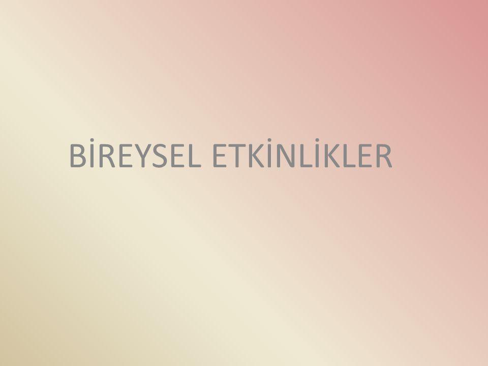 BİREYSEL ETKİNLİKLER