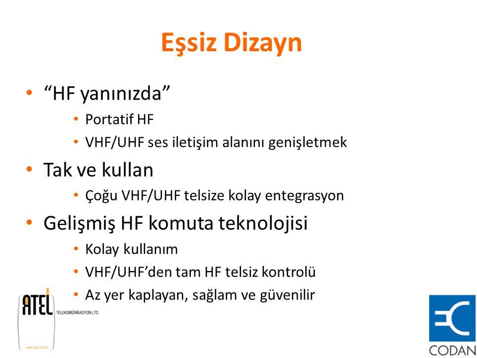 """Eşsiz Dizayn """"HF yanınızda"""" Portatif HF VHF/UHF ses iletişim alanını genişletmek Tak ve kullan Çoğu VHF/UHF telsize kolay entegrasyon Gelişmiş HF komu"""