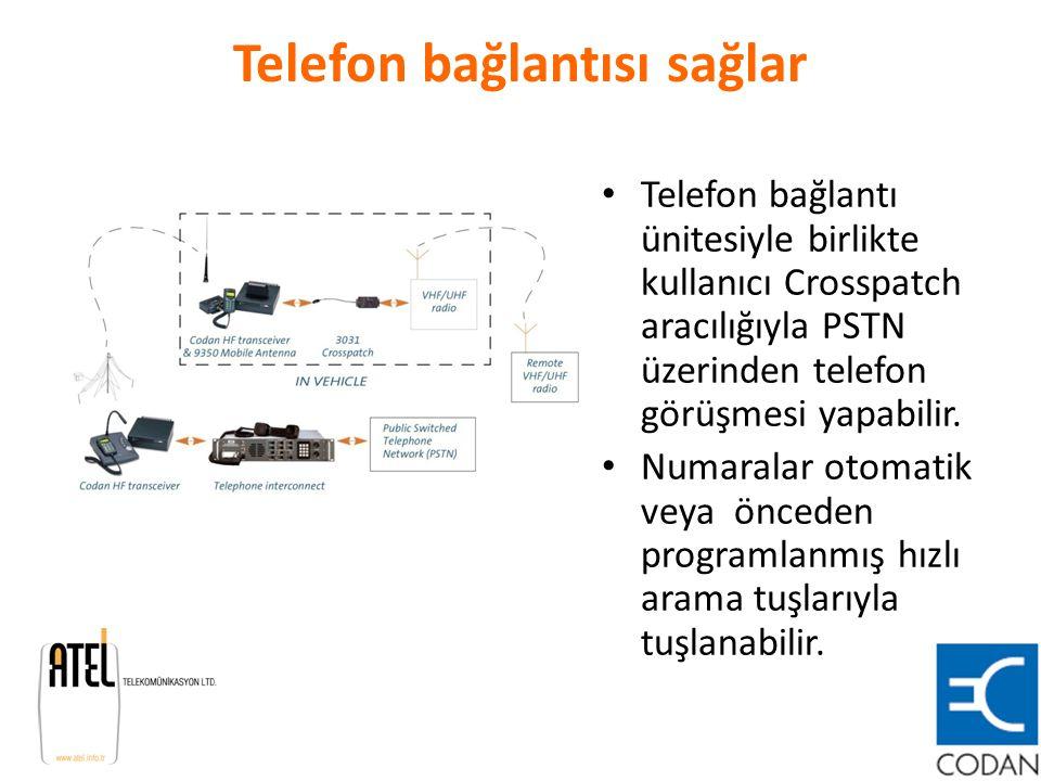 Telefon bağlantısı sağlar Telefon bağlantı ünitesiyle birlikte kullanıcı Crosspatch aracılığıyla PSTN üzerinden telefon görüşmesi yapabilir. Numaralar