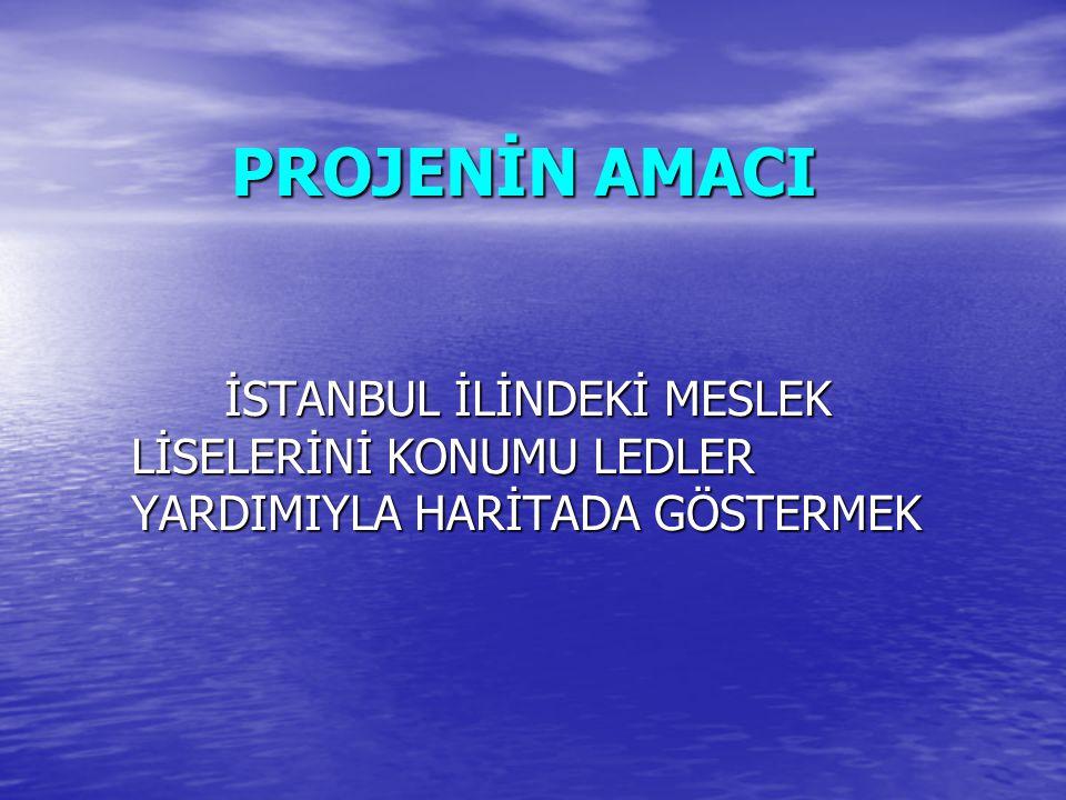 İstanbul Haritasının Faydaları  İstanbul ilindeki meslek liselerinin konumlarını harita üzerinde ledler yardımıyla göstermesi.