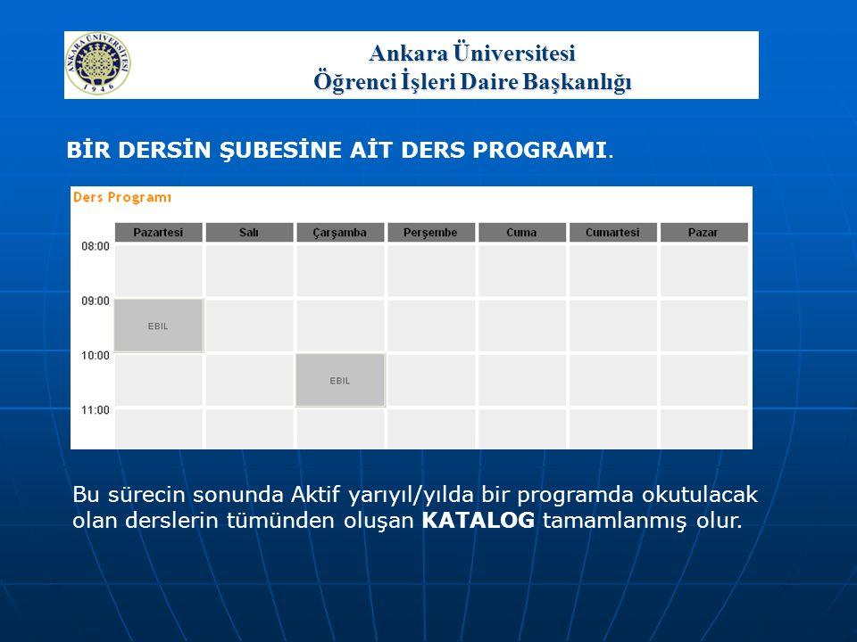 Ankara Üniversitesi Öğrenci İşleri Daire Başkanlığı Öğrencinin interaktif kayıt yapabilmesi için genel durumunun aktif olması gereklidir.