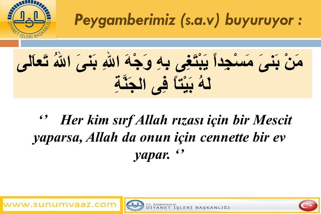 - Camiler ve Mescitler, Müslümanların namazlarını toplu olarak eda ettikleri mekanladır.