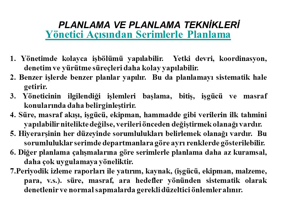 PLANLAMA VE PLANLAMA TEKNİKLERİ 1.kat Proje Tamamlanma Süresi ~ 38,1 haftadır.