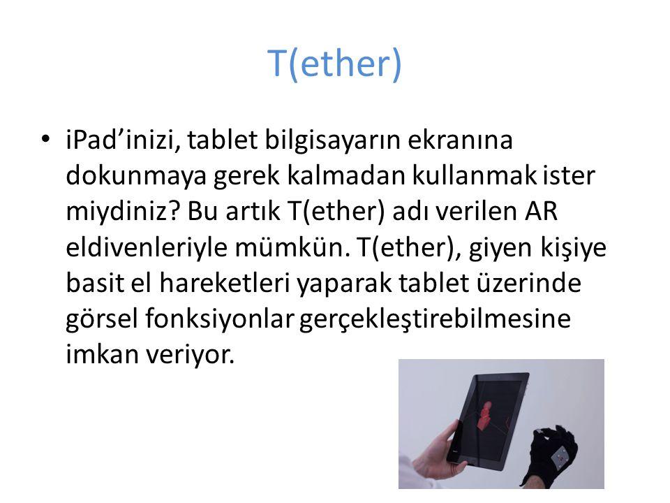 T(ether) iPad'inizi, tablet bilgisayarın ekranına dokunmaya gerek kalmadan kullanmak ister miydiniz? Bu artık T(ether) adı verilen AR eldivenleriyle m