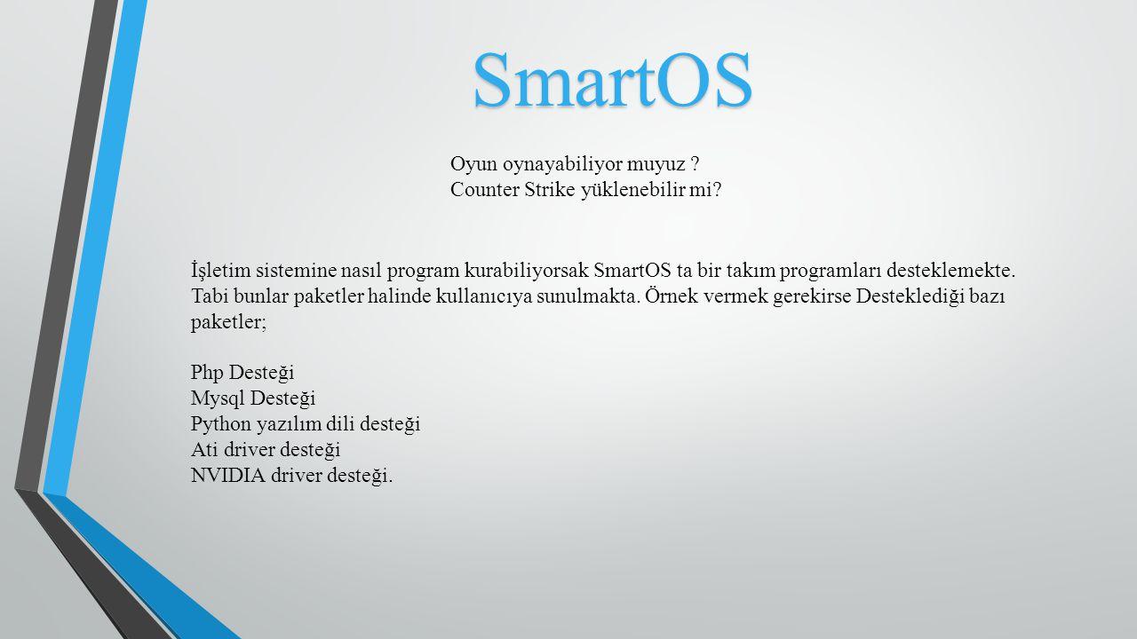 SmartOS SmartOS Genel olarak sanallaştırma işletim sistemlerinde kullanılıyor.