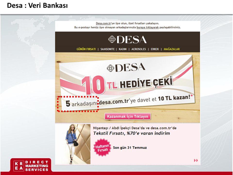 Desa : Veri Bankası