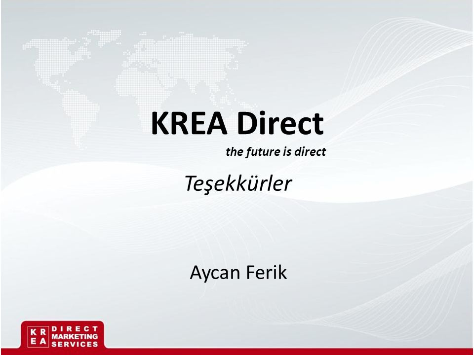 KREA Direct the future is direct Aycan Ferik Teşekkürler