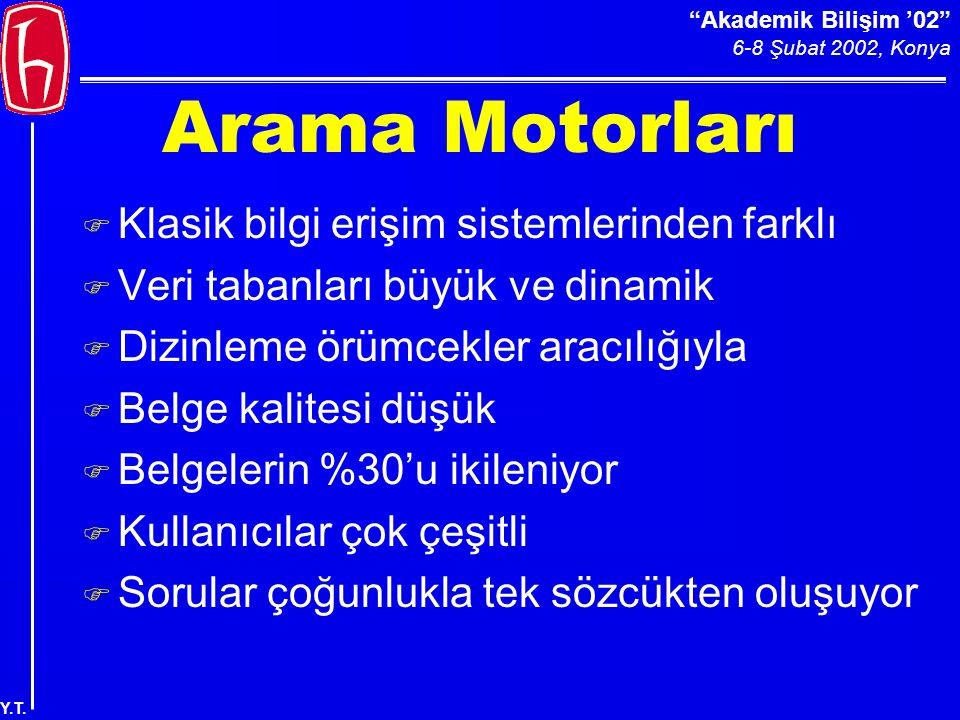 Akademik Bilişim '02 6-8 Şubat 2002, Konya Y.T.