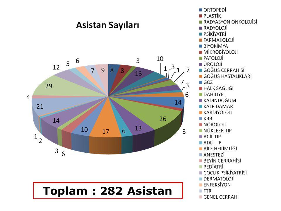 Toplam : 31 Yan Dal Asistanı