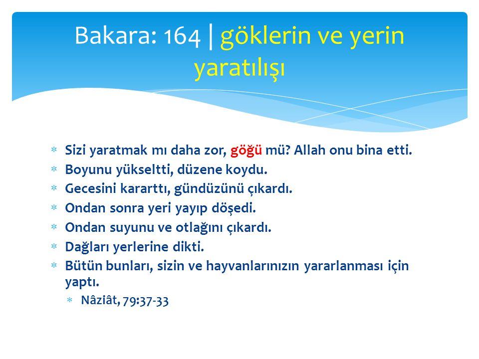  âyet  işaret, alâmet, delil, belge  mucize  Kitabın âyetleri  Kur'ân  kâinat kitabı Bakara: 164   âyet