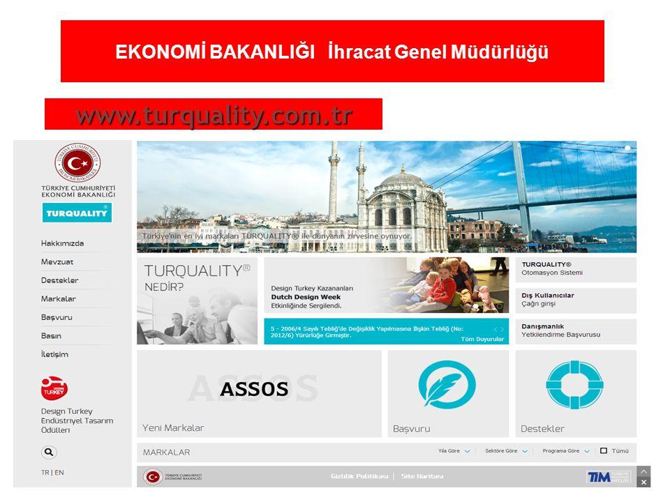 22 EKONOMİ BAKANLIĞI İhracat Genel Müdürlüğü www.turquality.com.tr