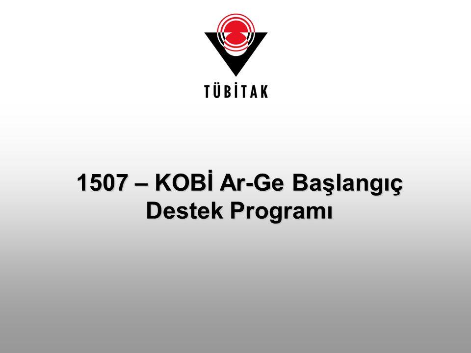 1507 – KOBİ Ar-Ge Başlangıç Destek Programı