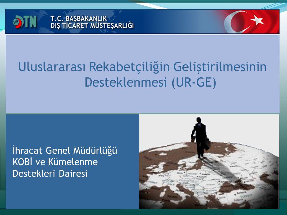 Uluslararası Rekabetçiliğin Geliştirilmesinin Desteklenmesi (UR-GE) İhracat Genel Müdürlüğü KOBİ ve Kümelenme Destekleri Dairesi
