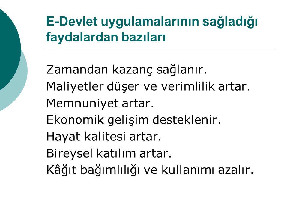 Başlıca Sanal Devlet Siteleri  www.turkiye.gov.tr www.turkiye.gov.tr  www.e-devlet.com www.e-devlet.com  www.ememleketim.com www.ememleketim.com  e-okul.meb.gov.tr e-okul.meb.gov.tr