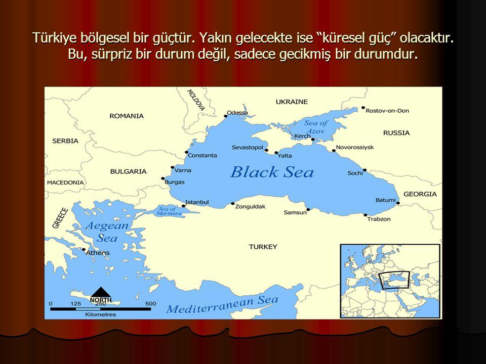 """Türkiye bölgesel bir güçtür. Yakın gelecekte ise """"küresel güç"""" olacaktır. Bu, sürpriz bir durum değil, sadece gecikmiş bir durumdur."""