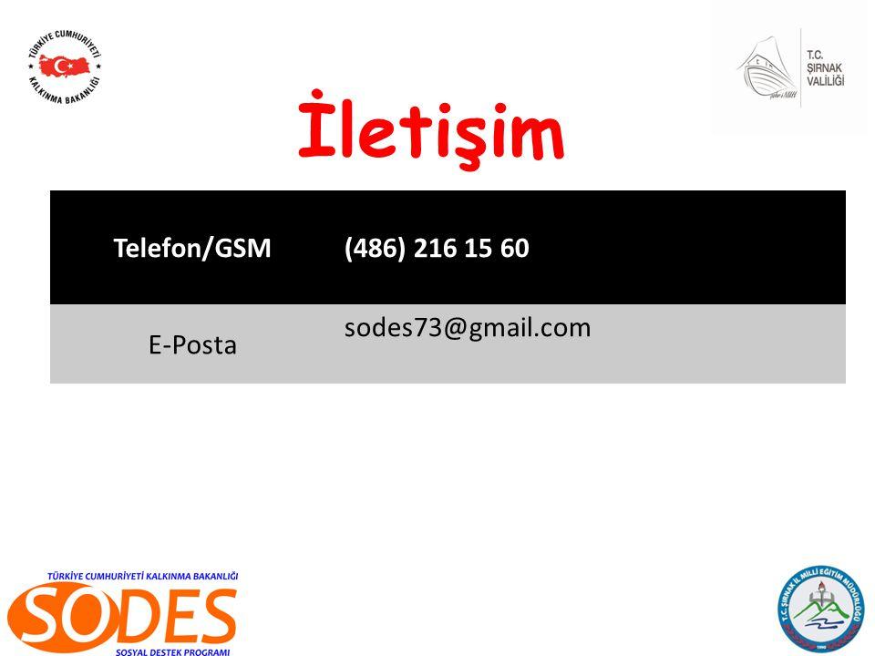 Telefon/GSM(486) 216 15 60 E-Posta sodes73@gmail.com İletişim