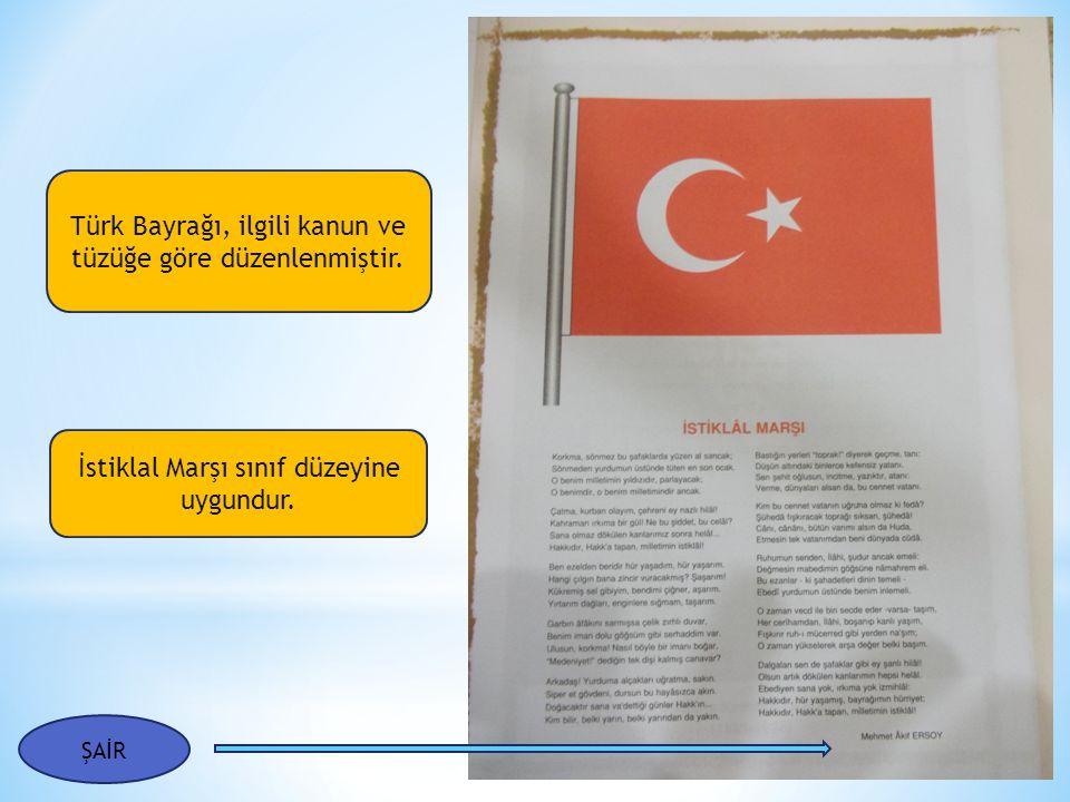 Türk Bayrağı, ilgili kanun ve tüzüğe göre düzenlenmiştir.