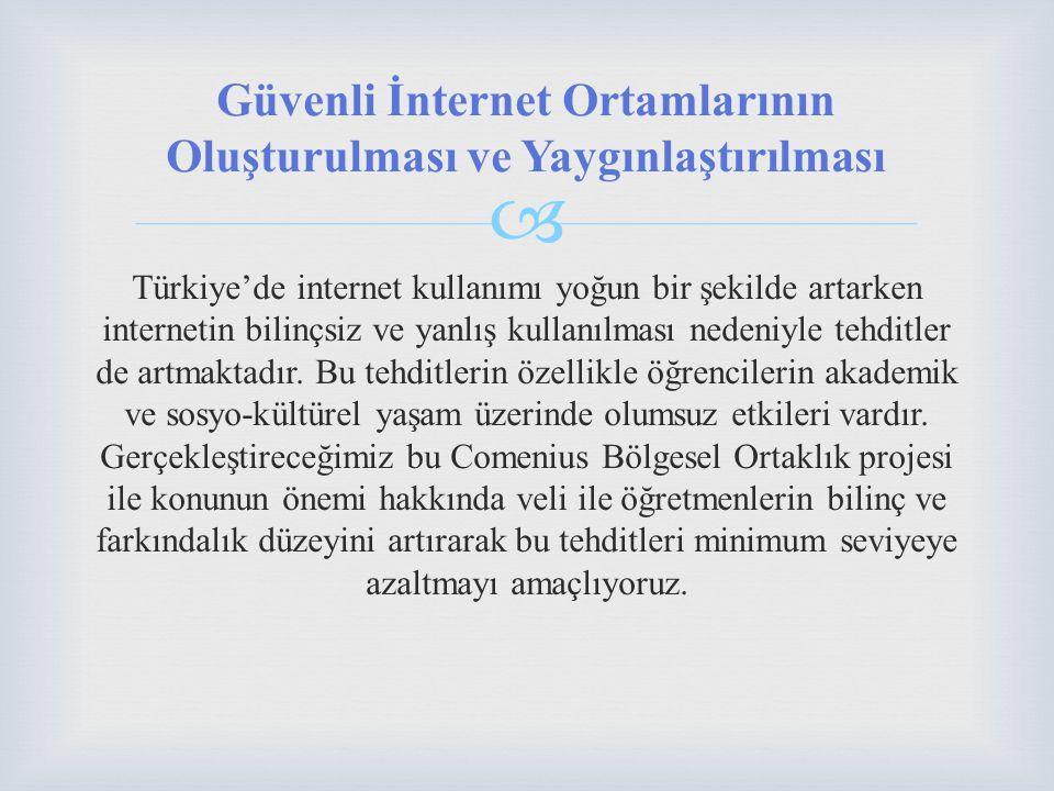  Türkiye'de internet kullanımı yoğun bir şekilde artarken internetin bilinçsiz ve yanlış kullanılması nedeniyle tehditler de artmaktadır.
