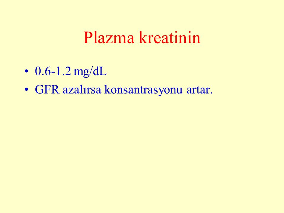 Kreatinin klerensi C Cr = P Cr U Cr.