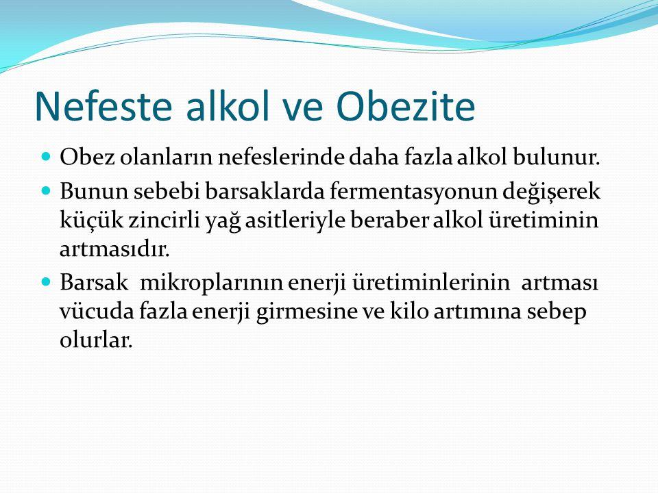 Nefeste alkol ve Obezite Obez olanların nefeslerinde daha fazla alkol bulunur.