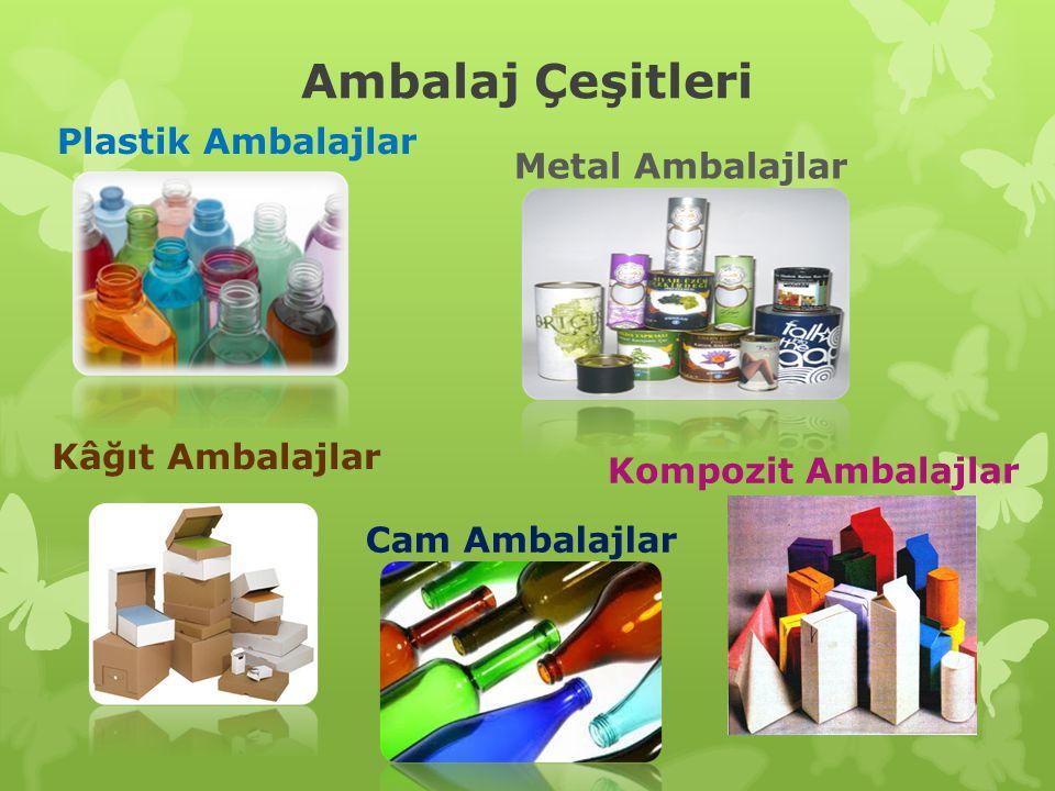 Plastik Ambalajlar: Evsel atıklar arasında bulunan özellikle gıda, meşrubat, deterjan, ve kozmetik ürünlerinin ambalajlarıdır.