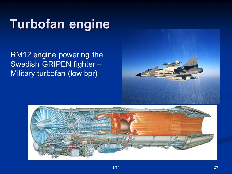 291/44 Turbofan engine RM12 engine powering the Swedish GRIPEN fighter – Military turbofan (low bpr)