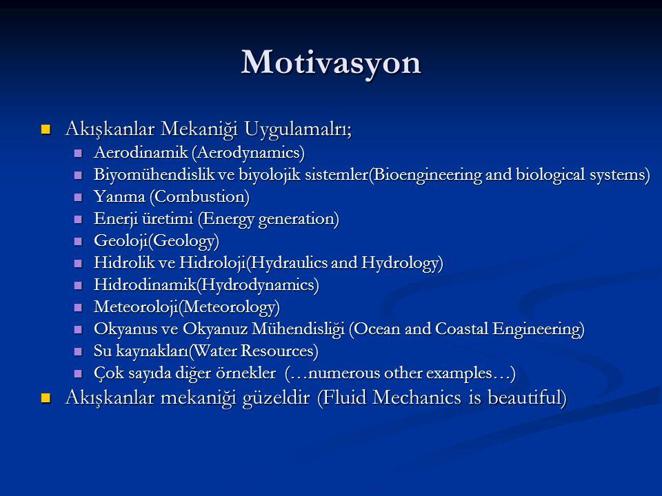 Motivasyon Akışkanlar Mekaniği Uygulamalrı; Akışkanlar Mekaniği Uygulamalrı; Aerodinamik (Aerodynamics) Aerodinamik (Aerodynamics) Biyomühendislik ve