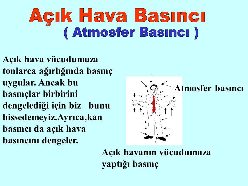 A.Ç Örnek : 1 atmosfer basıncı altında cıva -39 0 C de donar ve +357 0 C de kaynar.