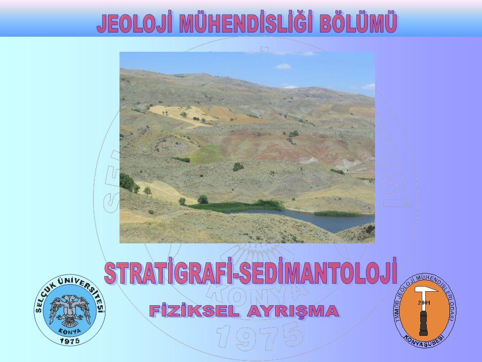 SEDİMENTER PROSESLER Sedimenter kayaçların oluşmasında etkili olan safhalar sedimenter prosesler olarak adlandırılır.
