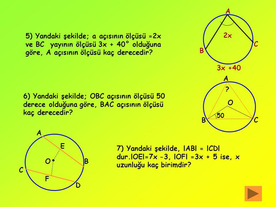 ALIŞTIRMALAR 1) Merkezi O ve yarıçapının uzunluğu 2,5 cm olan bir çember çiziniz.Çemberin iç bölgesinde E, üzerinde K ve dış bölgesinde bir D noktasın