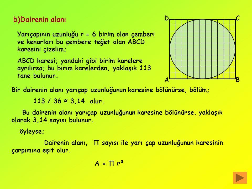 Bir çemberde; çevre uzunluğunun çap uzunluğuna bölümüyle bulunan sabit sayıya,П ( pi ) sayısı denir. Dairenin yarıçapını r,çevre uzunluğunu Ç ile göst