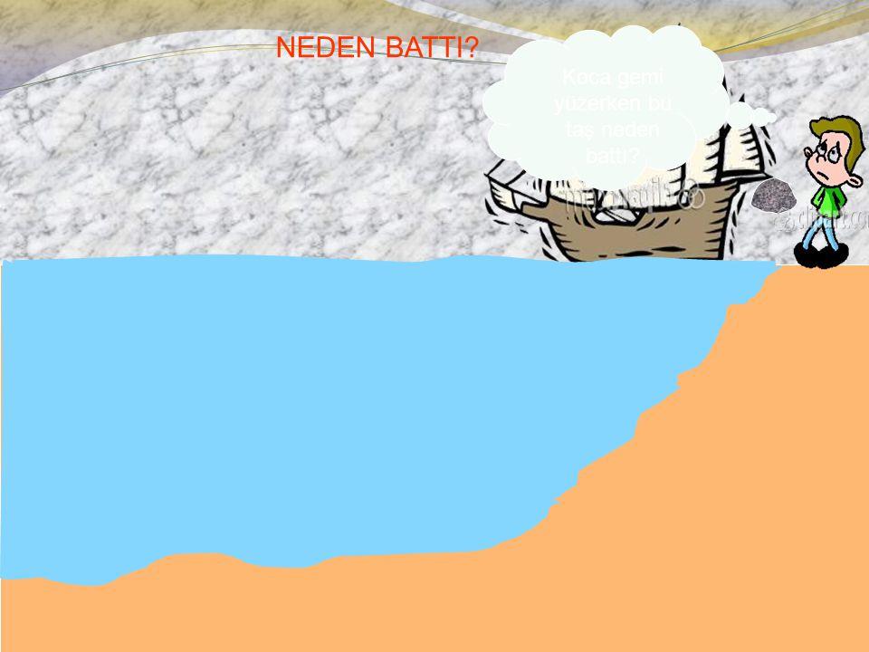 NEDEN BATTI? Koca gemi yüzerken bu taş neden battı?