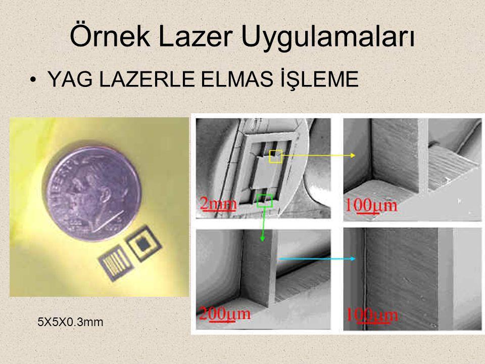 Örnek Lazer Uygulamaları YAG LAZERLE ELMAS İŞLEME 5X5X0.3mm