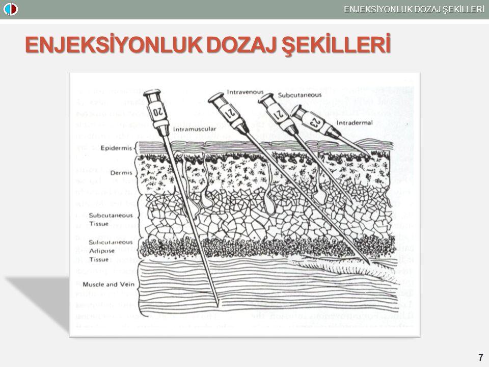 ENJEKSİYONLUK DOZAJ ŞEKİLLERİ 7