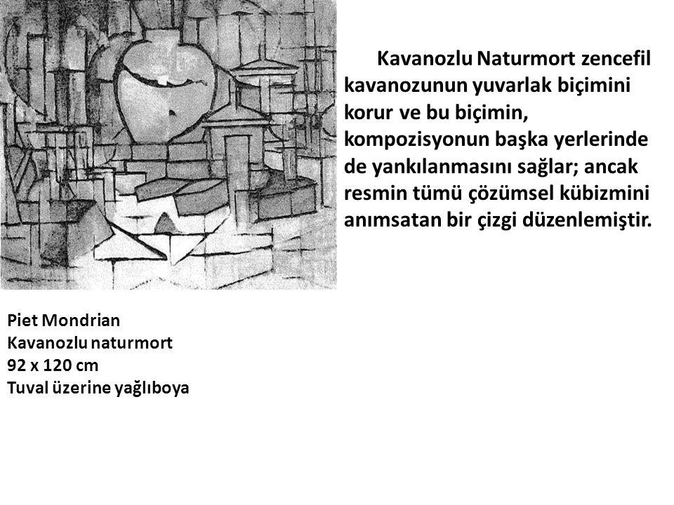 Kavanozlu Naturmort zencefil kavanozunun yuvarlak biçimini korur ve bu biçimin, kompozisyonun başka yerlerinde de yankılanmasını sağlar; ancak resmin