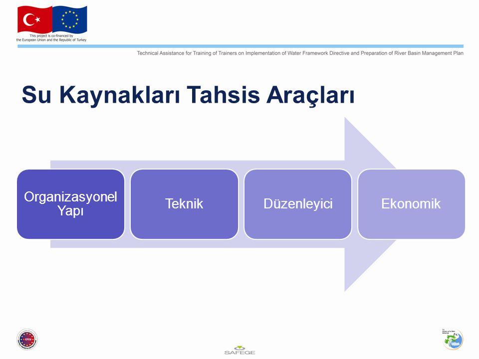 Su Kaynakları Tahsis Araçları Organizasyonel Yapı TeknikDüzenleyiciEkonomik