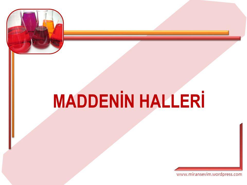www.miransevim.wordpress.com MADDENİN HALLERİ