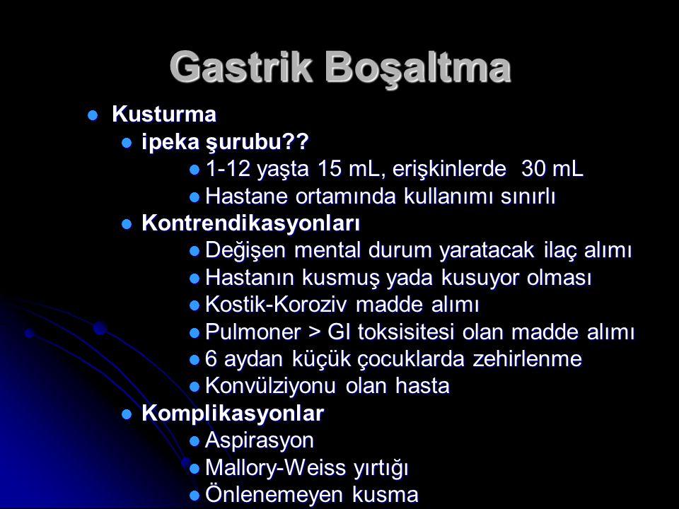 Gastrik Boşaltma Kusturma Kusturma ipeka şurubu?.ipeka şurubu?.