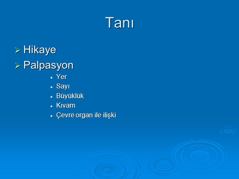 NODULER GUATR  Benign Kolloidal nodülKolloidal nodül Hashimato tiroiditiHashimato tiroiditi Basit veya hemorajik kistBasit veya hemorajik kist Folliküler adenomFolliküler adenom Subakut tiroiditSubakut tiroidit  Malign Primer (papiller, folliküler, medüller,anaplastik)Primer (papiller, folliküler, medüller,anaplastik) Sekonder (metastatik)Sekonder (metastatik)