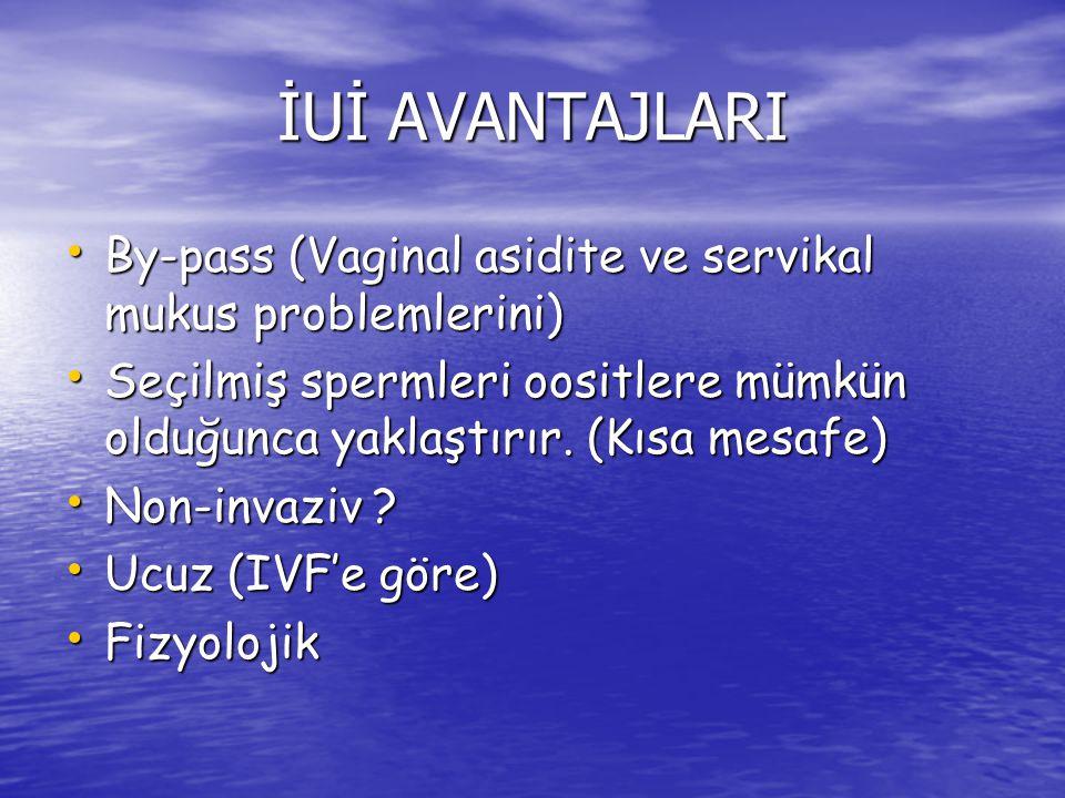 TERAPÖTİK İNSEMİNASYON ENDİKASYONLARI 1.