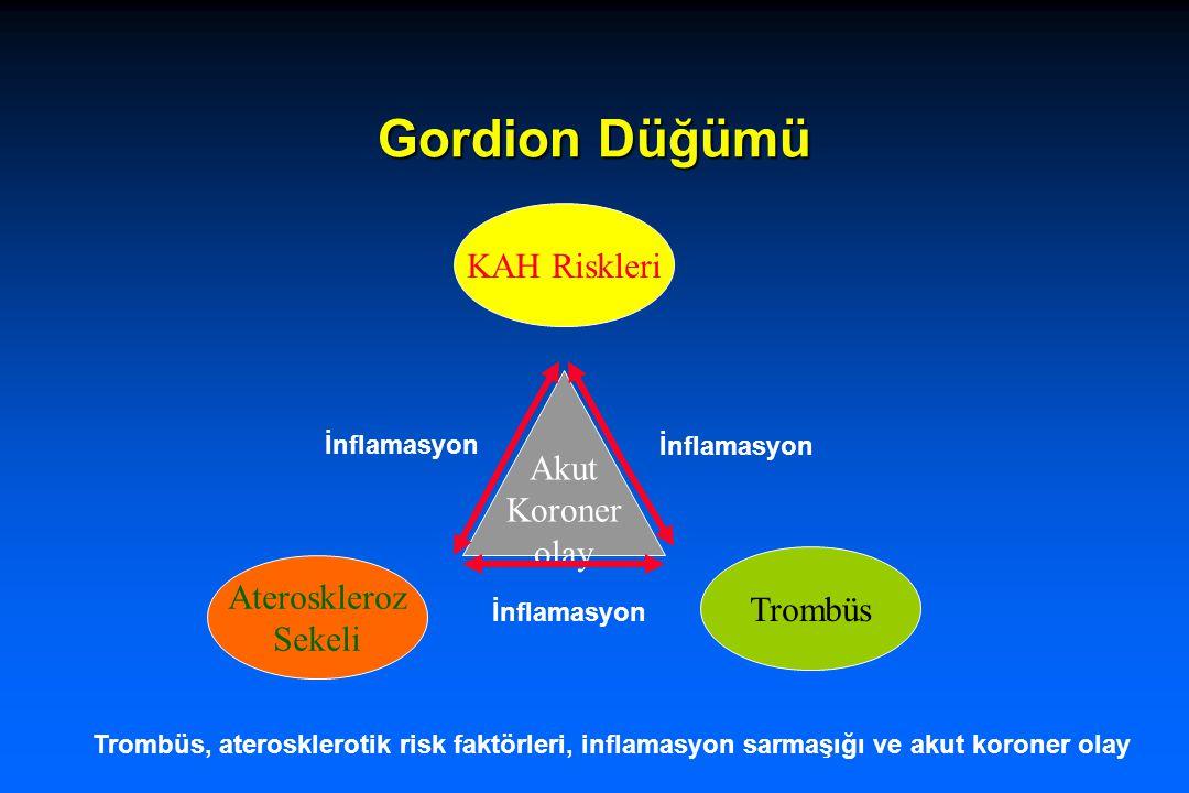 Gordion Düğümü KAH Riskleri Ateroskleroz Sekeli Trombüs Akut Koroner olay İnflamasyon Trombüs, aterosklerotik risk faktörleri, inflamasyon sarmaşığı v