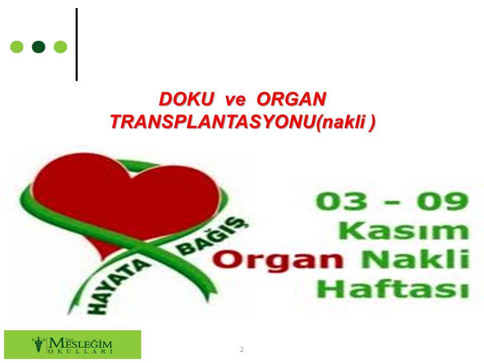 DOKU ve ORGAN TRANSPLANTASYONU(nakli ) 2